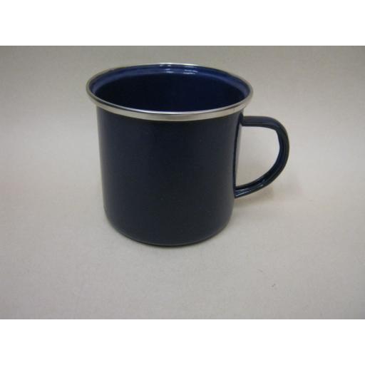 New Boyz Toys Enamel Mug Beaker Cup Tea Camping 8cm Blue