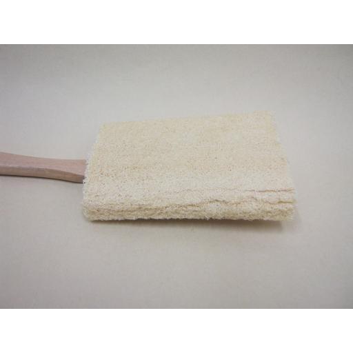 New Manicare Wood Wooden Long Handled Loofah Detachable Head 411655P