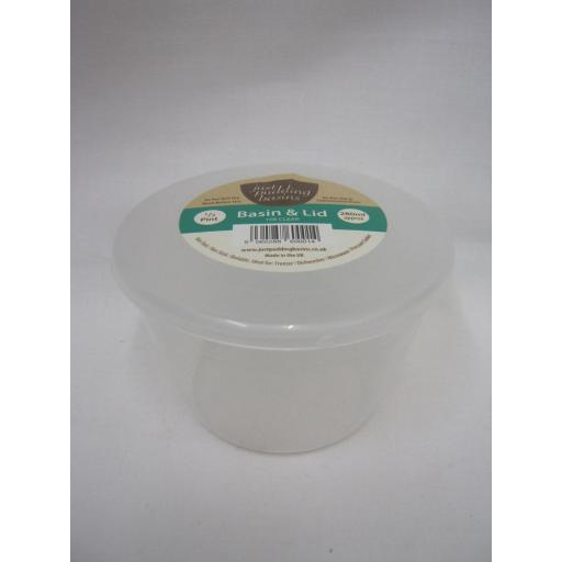 New Just Pudding Basins Plastic Pudding Bowl Basin And Lid 1/2 Pint 280ml