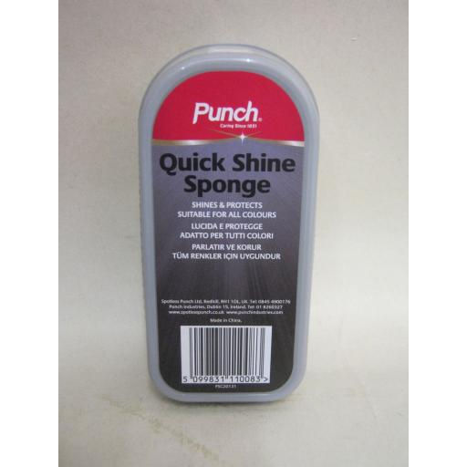New Punch Quick Shine Sponge Shines And Protects Suitable For All Colours