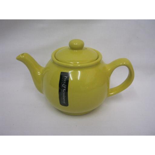 New Price And Kensington Small Pot Teapot 2 Cup 0056.751 Yellow