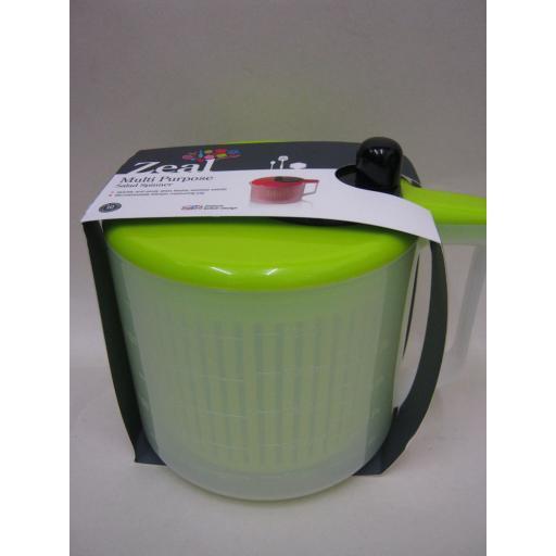 New Zeal Multi Purpose Salad Spinner & Microwaveable Measuring Jug Lime J259