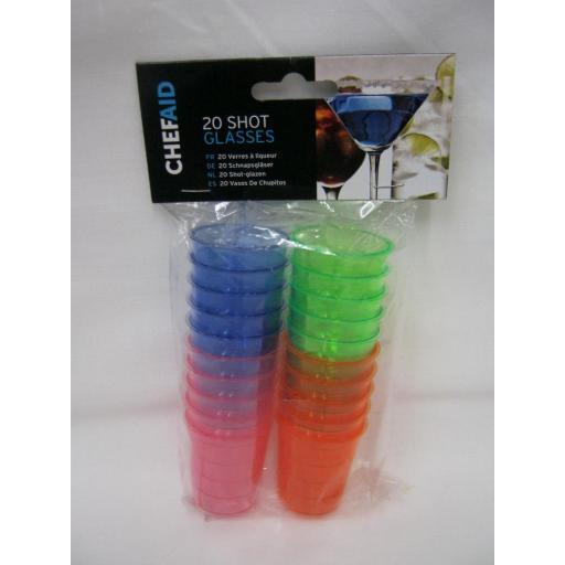 New Chef Aid Plastic Shot Glasses Pk2010E14873
