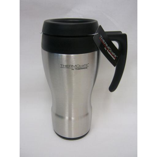 New Thermos Thermocafe 430 Curved Travel Mug Beaker Cup 0.45L 187068