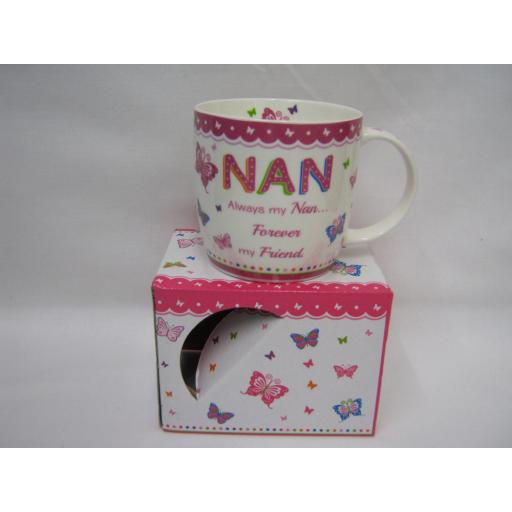 New BGC Mug Beaker Coffee Tea Cup Nan Always My Nan Forever My Friend