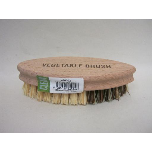 New Eddingtons Traditional Wood Vegetable Scrubbing Brush Bassine Bristles 14cm