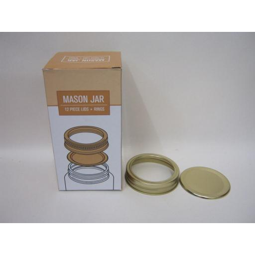 New Home Made Preserving Jar Metal Lids 12pc For 1 Litre And 500ml Jars HDLID