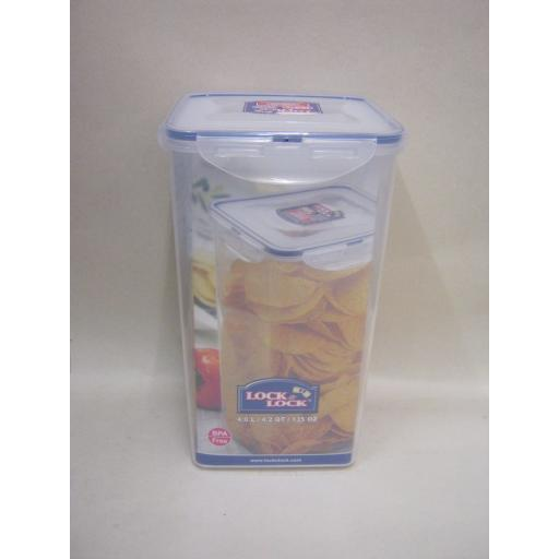 New Lock and & Lock Tall Rectangular 4ltr Food Container HPL822R