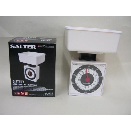 New Salter Scales Kitchen Diet Mini Compact Scale White 022