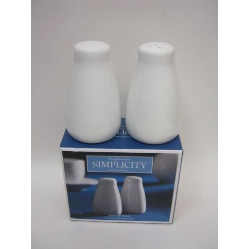 New Dema Simplicity Salt And Pepper Set White Fine Porcelain