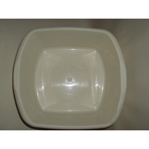 New Addis Oblong Plastic Washing Up Bowl Small 32cm Cream Linen 9606 12.1/2 In