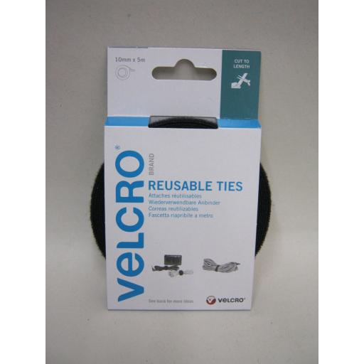 New Velcro Self Gripping Ties Cable Tidy 10mm 5m 60253