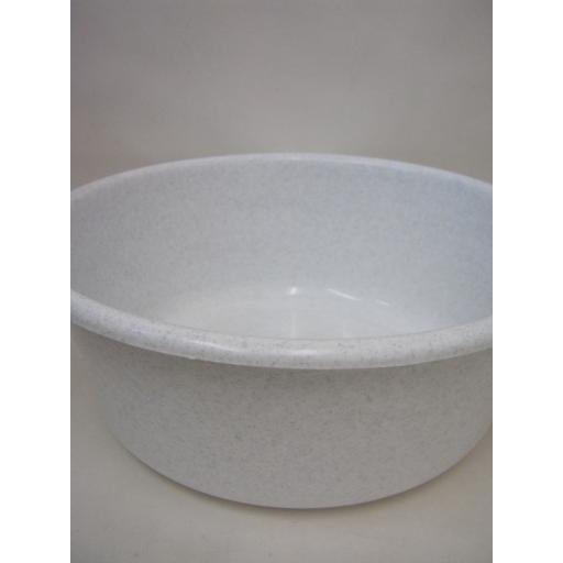 New Lucy Medium Round Plastic Washing Up Bowl 34cm 13.5 Inch Granite Grey Second