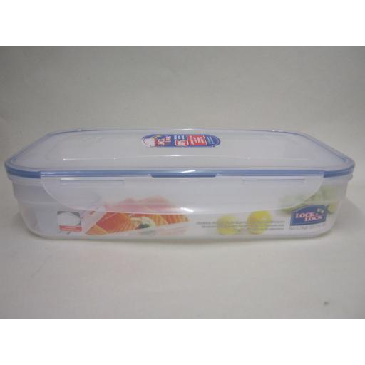 New Lock and & Lock Rectangular Food Container Freshness Grid 2.4L HPL350