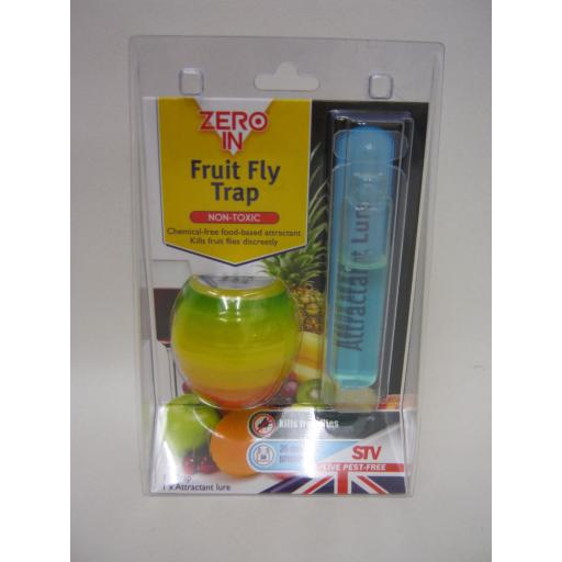 New STV Zero In Kills Fruit Flies Fly Trap Non-Toxic 30 Day Protection Zer886