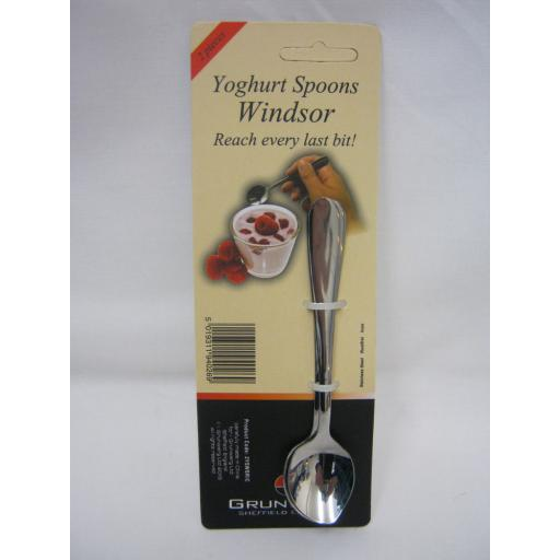 New Grunwerg Windsor Yoghurt Spoons Stainless Steel Pk2 2YSWSR/C