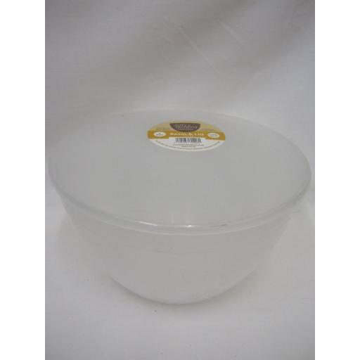 New Just Pudding Basins Plastic Pudding Bowl Basin And Lid 4 Pint 2.27 Lts
