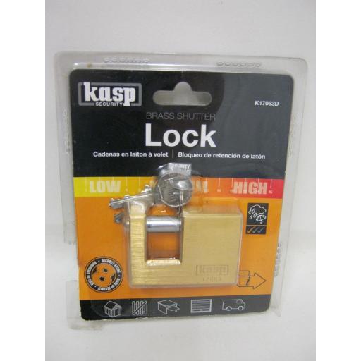 New Kasp Security 5 Premium Brass Shutter Padlock 170 Series K17063D