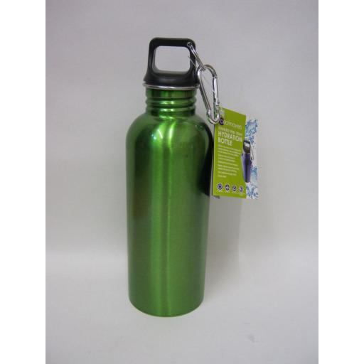 New Coolmovers Stainless Steel Sports Hydration Bottle Active 750ml Green