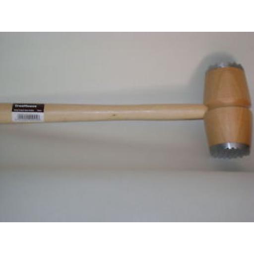 New Wood Metal End Meat Tenderiser Steak Mallet Hammer