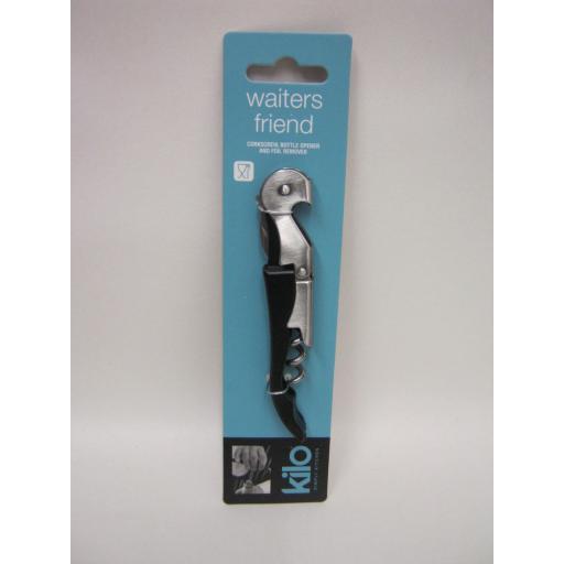 New Kilo Smooth Pull Waiters Friend Wine Bottle Opener Corkscrew E176 Black