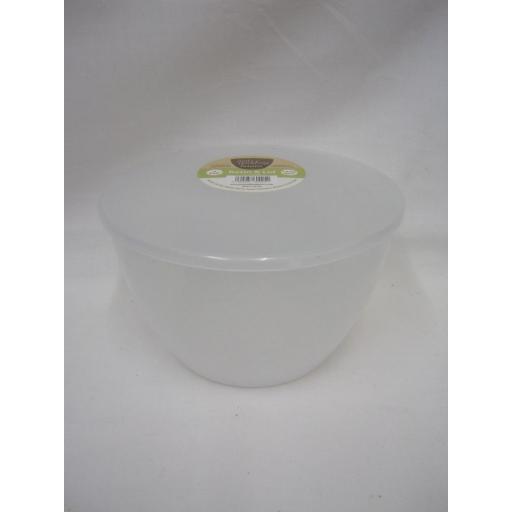 New Just Pudding Basins Plastic Pudding Bowl Basin And Lid 3 Pint 1.71 Lts