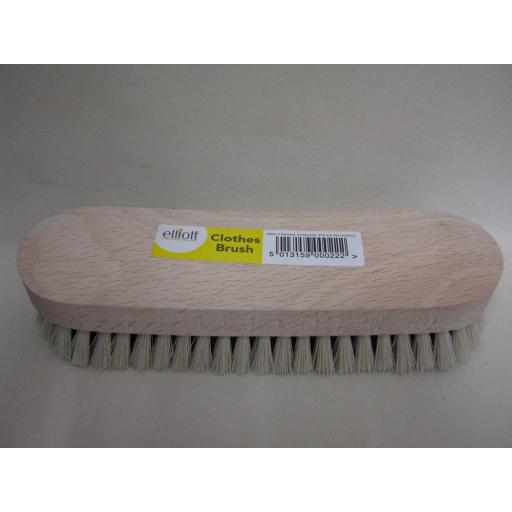 New Elliott Clothes Brush Wood Back Nylon Bristles