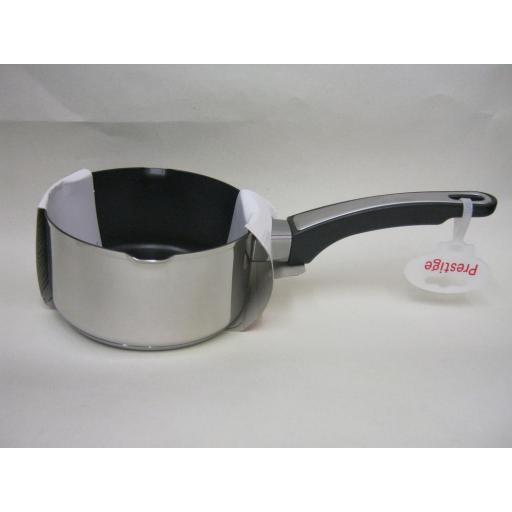 New Prestige Stainless Steel Everyday Non Stick Milk Pan 14cm 0.9L 76466