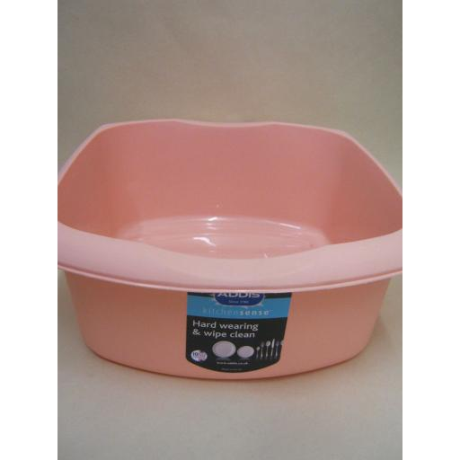New Addis Oblong Plastic Washing Up Bowl 38cm Blush Pink Peach 15 Inch