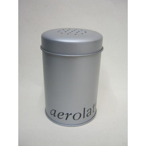 New Aerolatte Flour Icing Sugar Chocolate Sieve Dusting Coffee Latte Shaker Tin