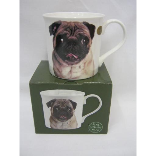 New Lesser And Pavey Fine China Mug Beaker Coffee Tea Cup Pug