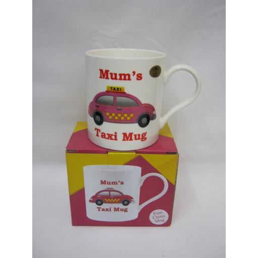 New Lesser And Pavey Fine Bone China Mug Beaker Coffee Tea Cup Mum's Taxi