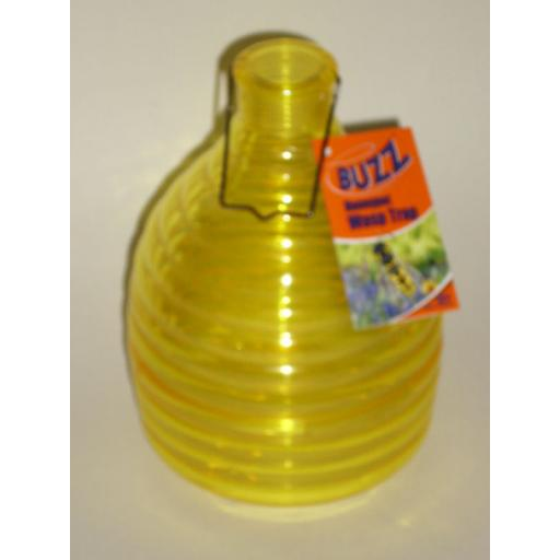 New Buzz Outdoor Wasp Honeypot Trap Killer Yellow