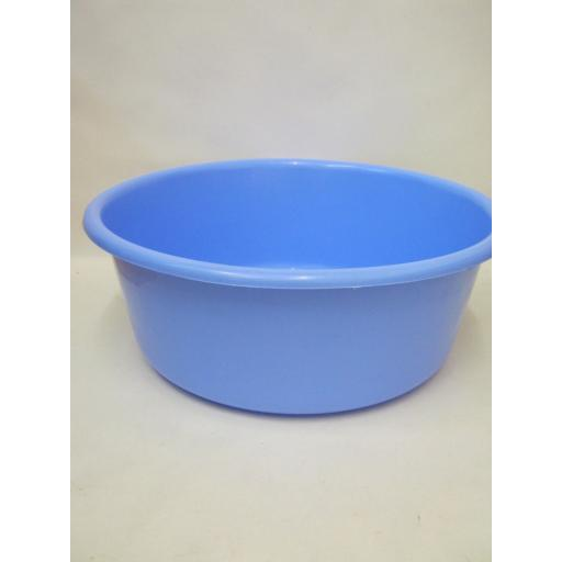 New Lucy Medium Round Plastic Washing Up Bowl 34cm 13.52 Corn Blue Slight Second