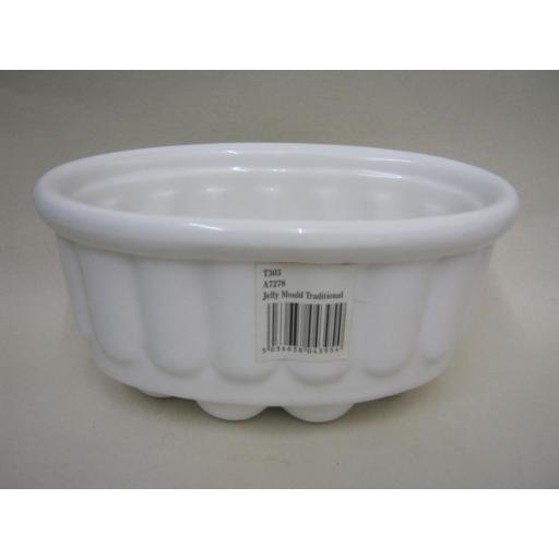 New Wm Bartleet White Porcelain Traditional Jelly Mould 600ml 1Pint T303