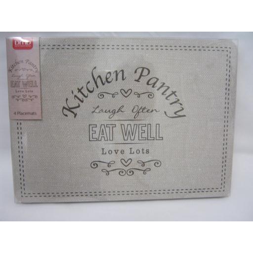 New DMD Place Mats Pk4 29cm x 21cm Kitchen Pantry Design 7877