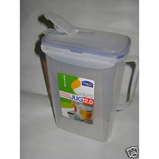 New Lock and & Lock Juice Drinks Jug 2.0L Fits Fridge Door HPL735