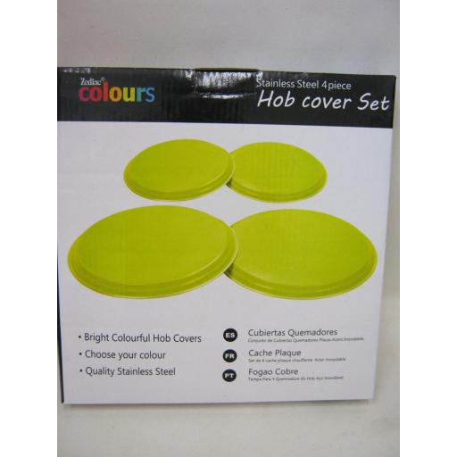 New Zodiac Stainless Steel Hob Covers Electric Gas Hobs Cover Set 4 Piece Lime