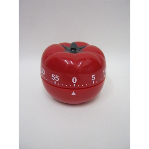 New Metaltex Kitchen 60 Minute Wind Up Timer Red Tomato