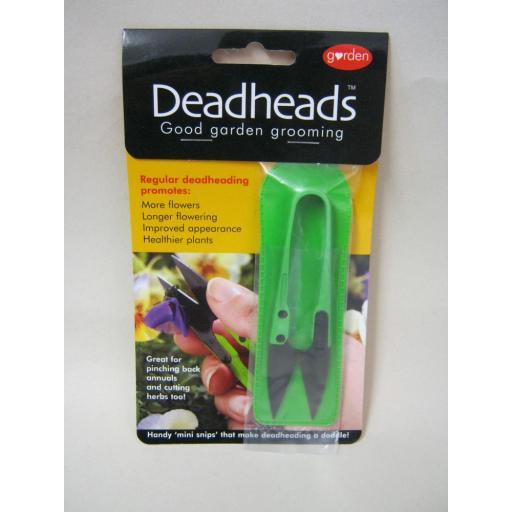 New Deadheads Handy Deadheading Garden Mini Snips Snippers Green
