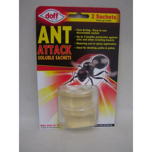 New Doff Ant Attack Killer And & Nests Liquid Soluble Sachets pk2