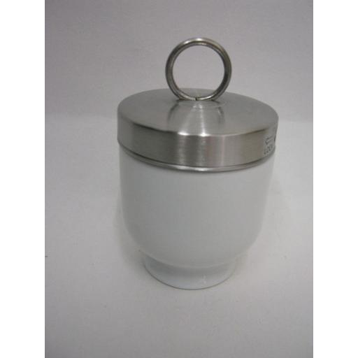 New Kitchen Craft Traditional White Porcelain Egg Coddler KCCODDLE