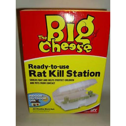 New Stv Big Cheese Rat Kill Bait Station Indoor Outdoor STV133