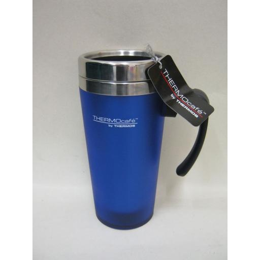 New Thermos Thermocafe Zest Travel Mug Beaker Cup 0.42L Blue
