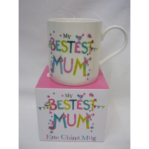 New Simlply Gifts Fine China Mug Beaker Coffee Tea Cup My Bestest Mum
