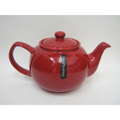 New Price And Kensington Pot Teapot 6 Cup Tea Pot 0056.760 Red