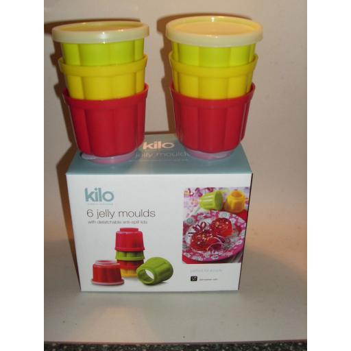 New Kilo Plastic Round Jelly Moulds And Lids Pk6 L35
