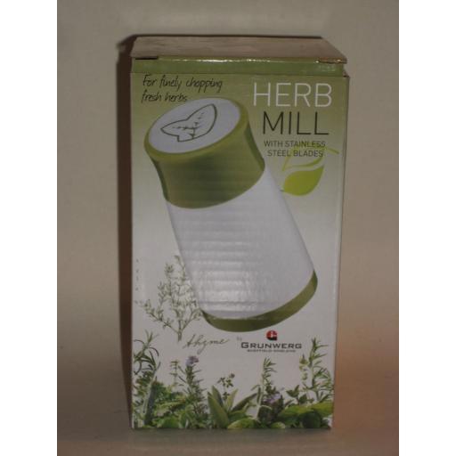 New Grunwerg Fresh Herb Mill Grinder Stainless Steel Blades HM 411W