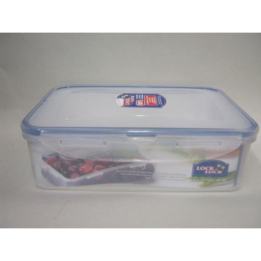New Lock and & Lock Rectangular Sandwich Box Food Container 1.6L HPL824