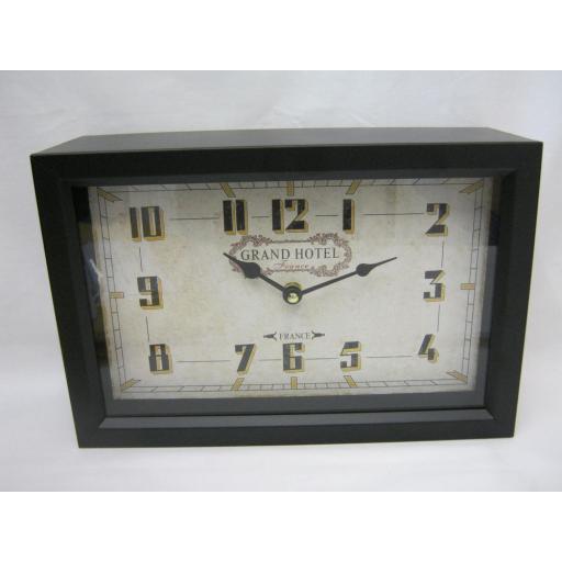 New Mantel Clock Grand Hotel Black Metal MHH25
